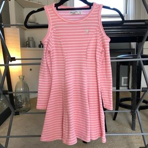 Abercrombie Kids Pink Striped Dress with Cut Outs